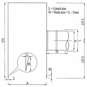 Plenum box - un lined, APB